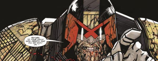 Judge Dredd: Titan - Dredd battered
